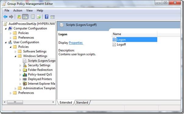 Image of Scripts (Logon/Logoff) window
